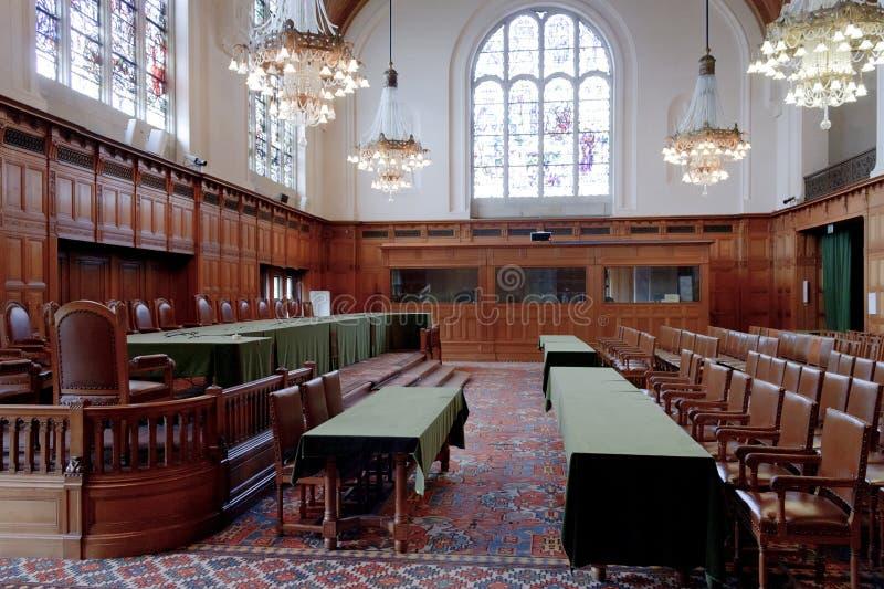 Grande salão de justiça - quarto da corte de ICJ fotografia de stock royalty free