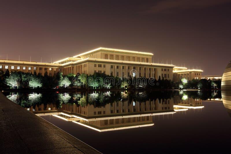 Grande salão dos povos na noite fotografia de stock royalty free