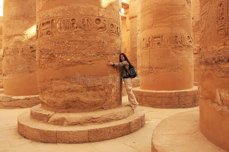Grande Salão hipostilo, complexo do templo de Karnak, Luxor imagem de stock royalty free