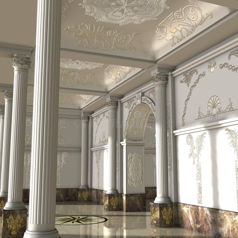 Grande Salão luxuoso ilustração royalty free