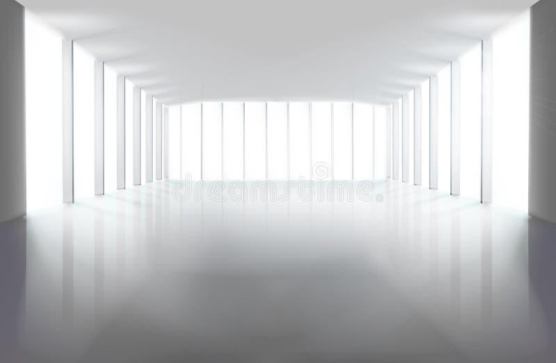 Grande salão vazio Ilustração do vetor ilustração stock