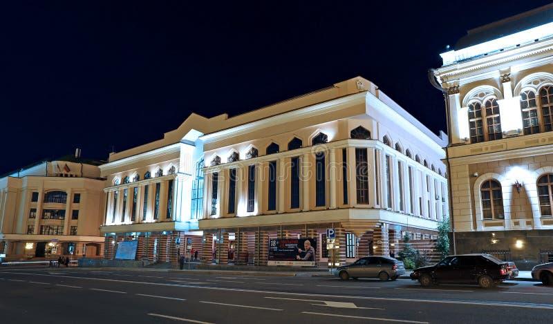 Grande sala da concerto dello stato nominata Salih Saidashev fotografie stock libere da diritti