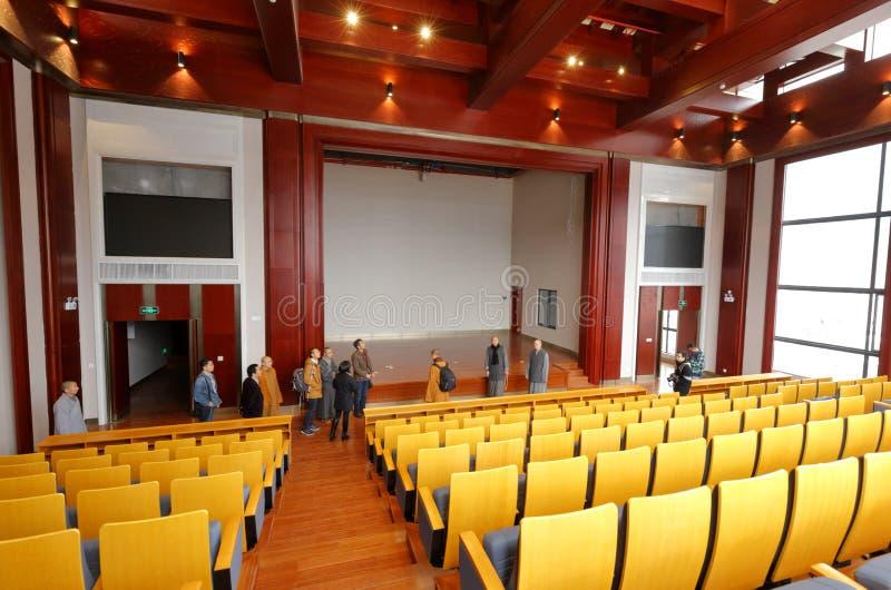 Grande sala de reunião da faculdade de zhejiang buddha, adôbe rgb imagem de stock royalty free
