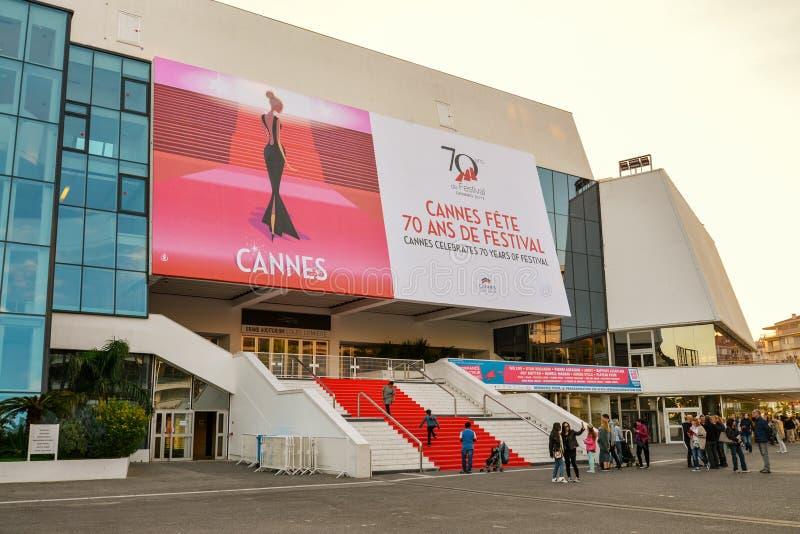 Grande sala Louis Lumiere a Cannes fotografia stock
