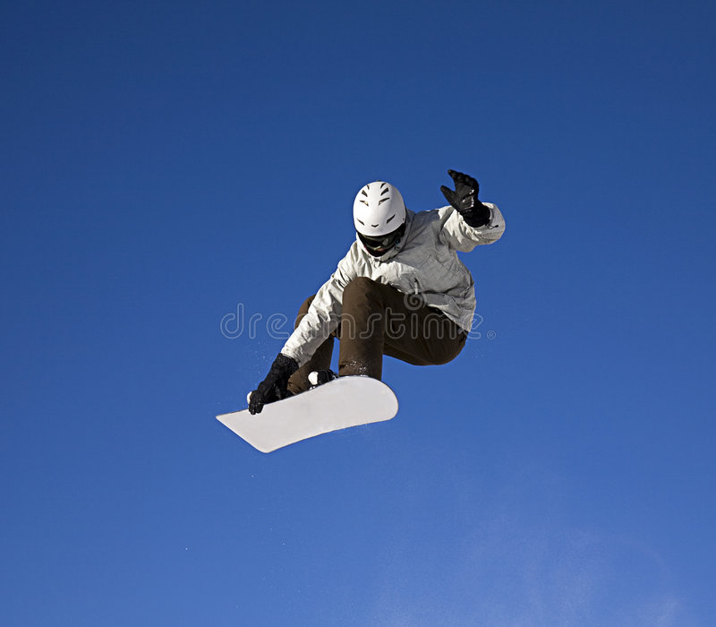 Grande salto dello snowboard fotografia stock libera da diritti
