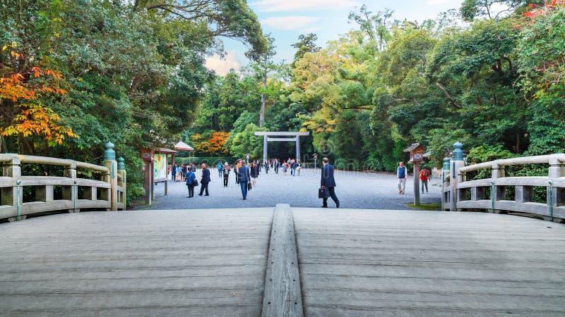 Grande santuario di Ise Jingu GekuIse - santuario esterno in Ise City, Mie Prefecture fotografia stock