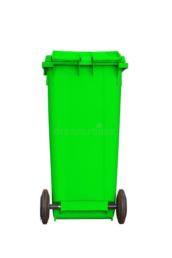 Grande scomparto di immondizia verde fotografia stock