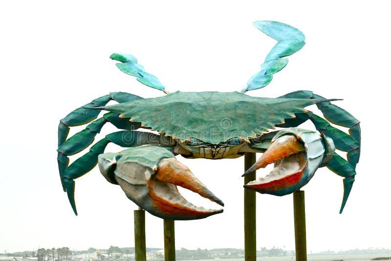 Grande sculpture en crabe en métal photographie stock libre de droits
