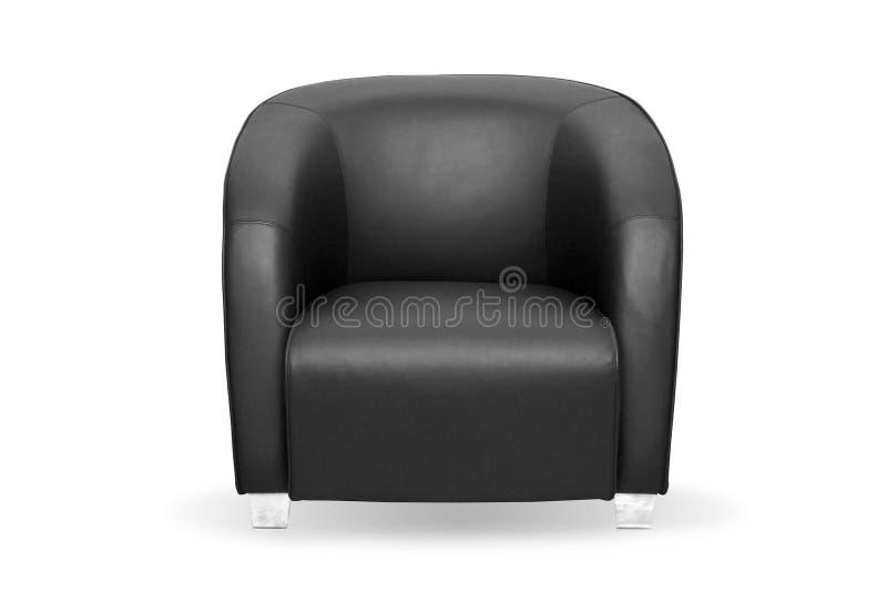 Grande sedia nera immagine stock