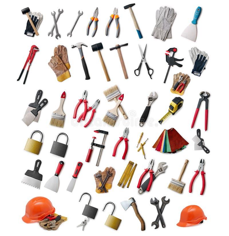 Grande seleção de ferramentas da mão foto de stock