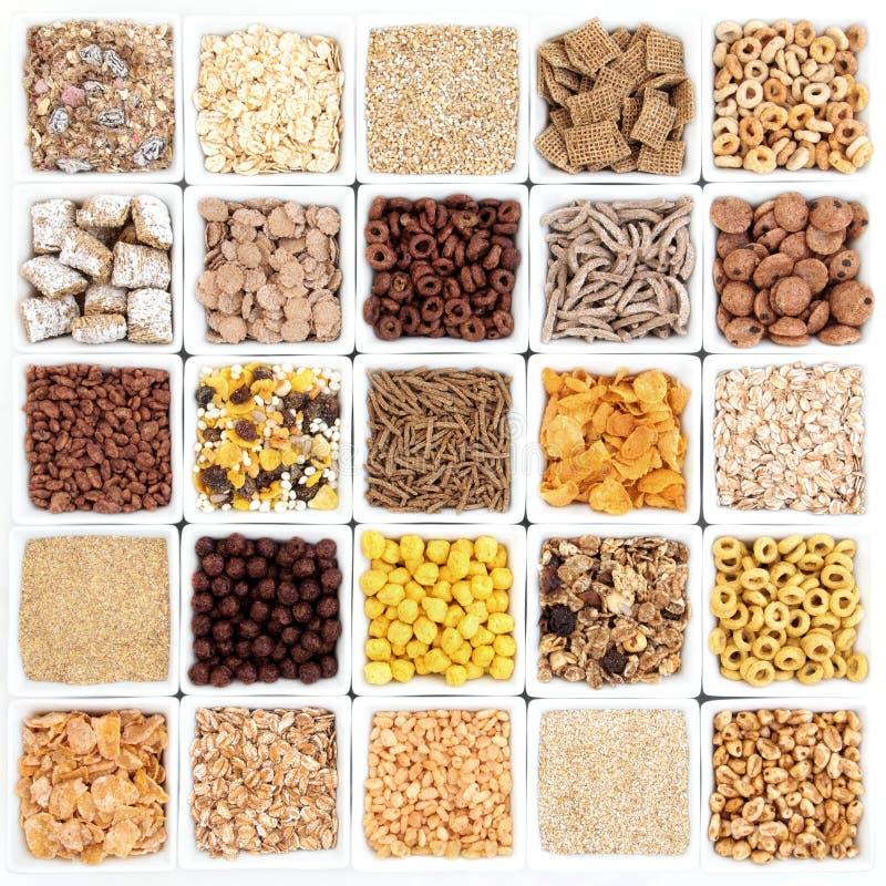 Grande seleção do cereal de café da manhã fotografia de stock royalty free