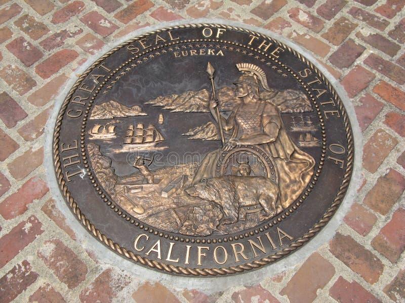 Grande selo do estado de Califórnia imagens de stock