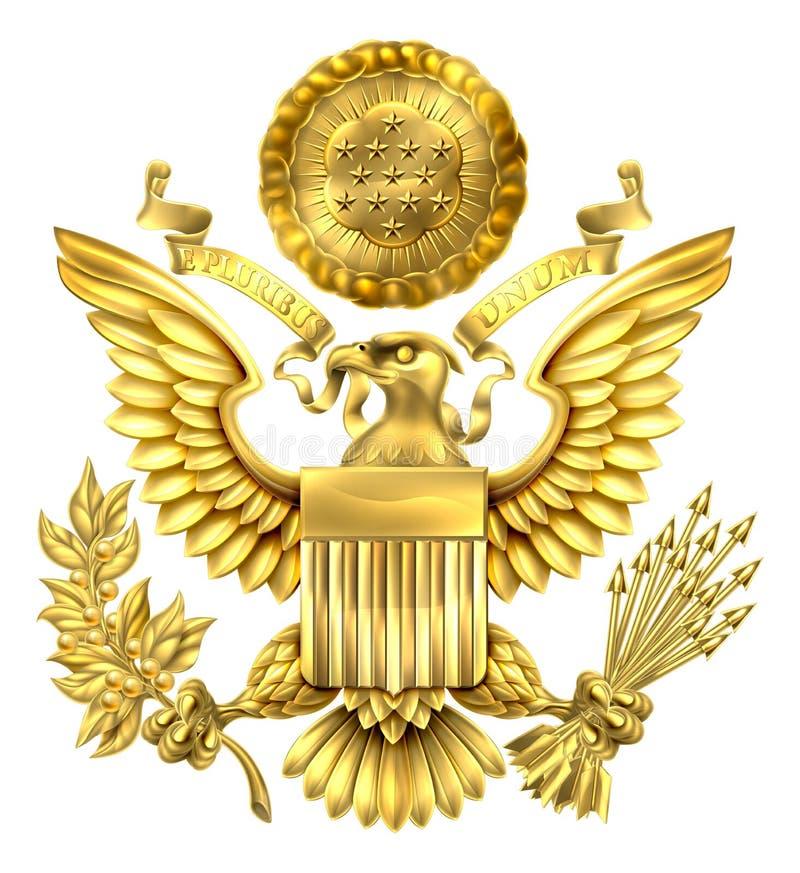 Grande selo do ouro do Estados Unidos ilustração royalty free