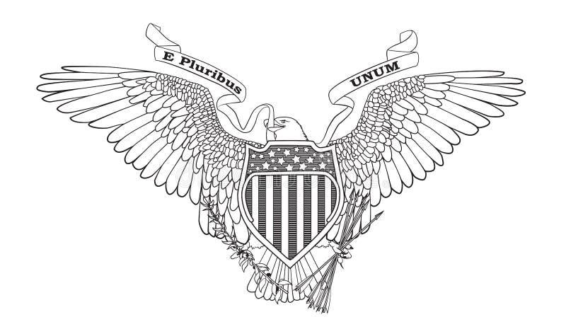 Grande selo dos EUA ilustração royalty free