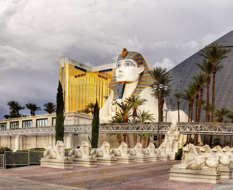 Grande Sfinge di Giza, Las Vegas fotografia stock