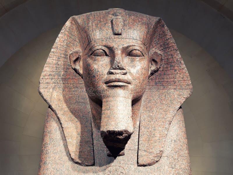 Grande Sfinge di Tanis nel museo Parigi Francia del Louvre immagine stock libera da diritti