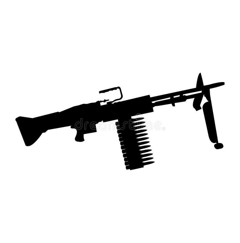 Grande silhouette de noir d'arme à feu illustration libre de droits