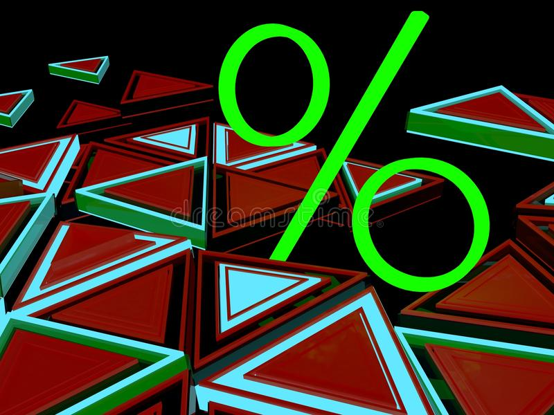 Grande sinal de por cento verde ilustração stock