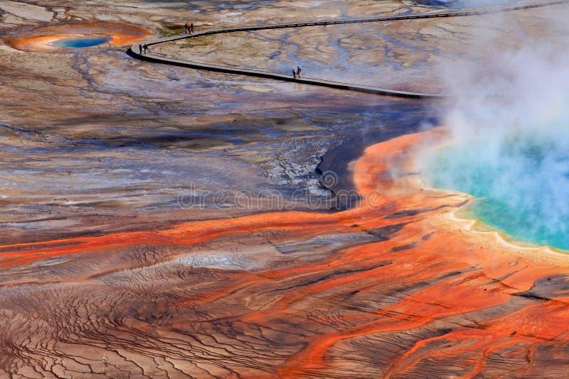 Grande sorgente prismatica, sosta nazionale del Yellowstone fotografia stock