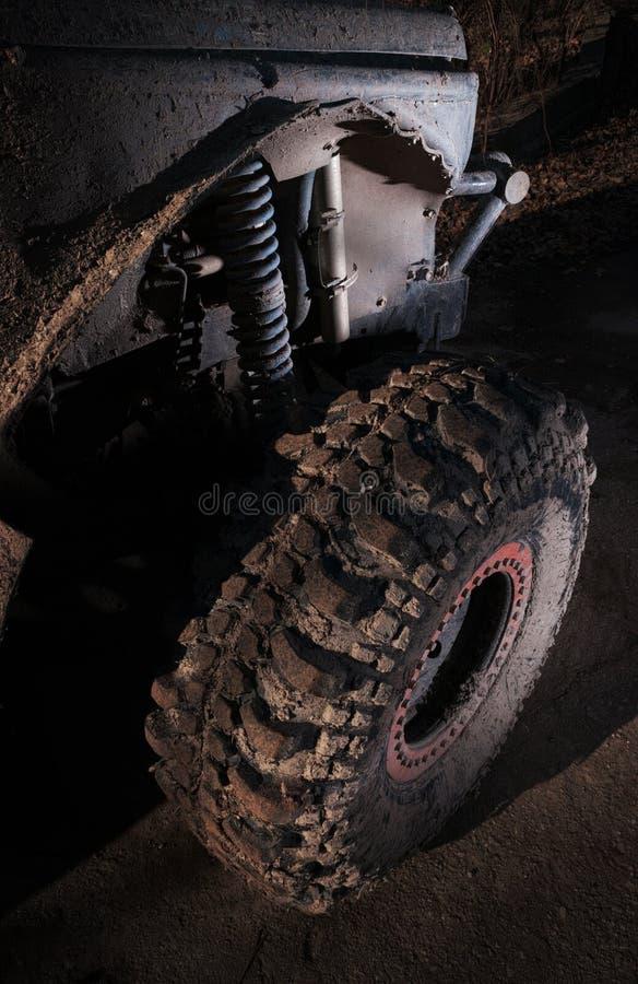 Grande sospensione fuori strada del camion 4x4 fotografia stock