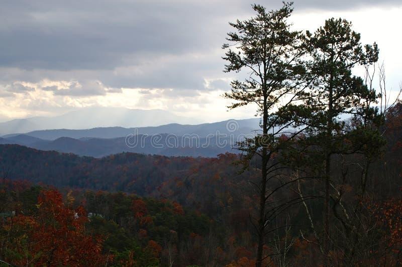 Grande sosta nazionale delle montagne fumose fotografie stock