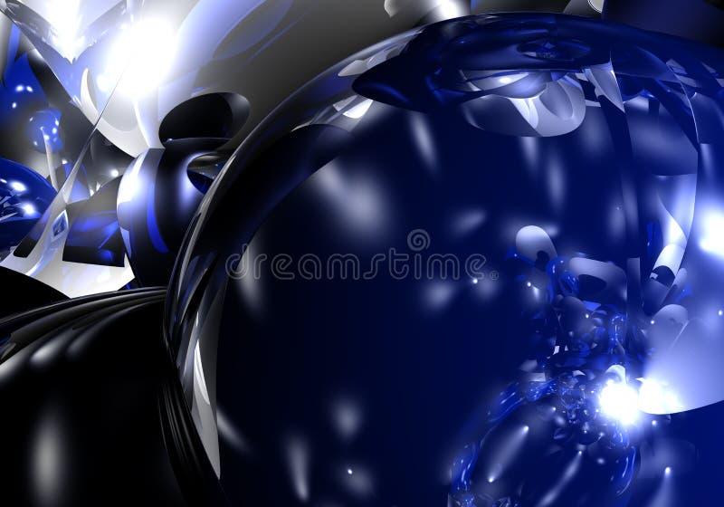 Grande sphère bleue illustration de vecteur