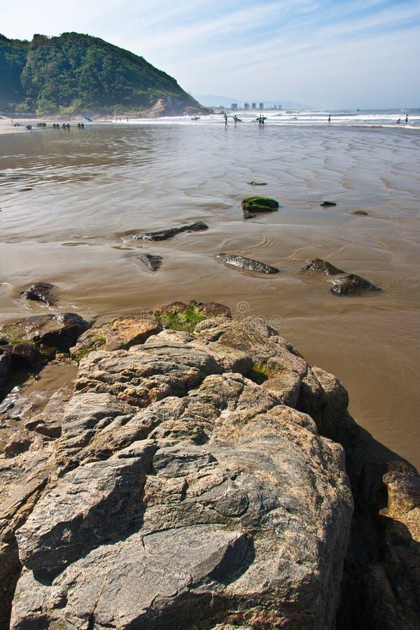 Grande spiaggia Brasile di Praia fotografia stock libera da diritti