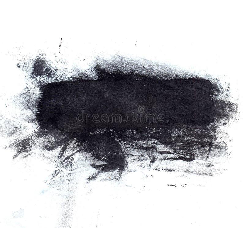 Grande splotch de tinta preta Contexto artístico ilustração stock