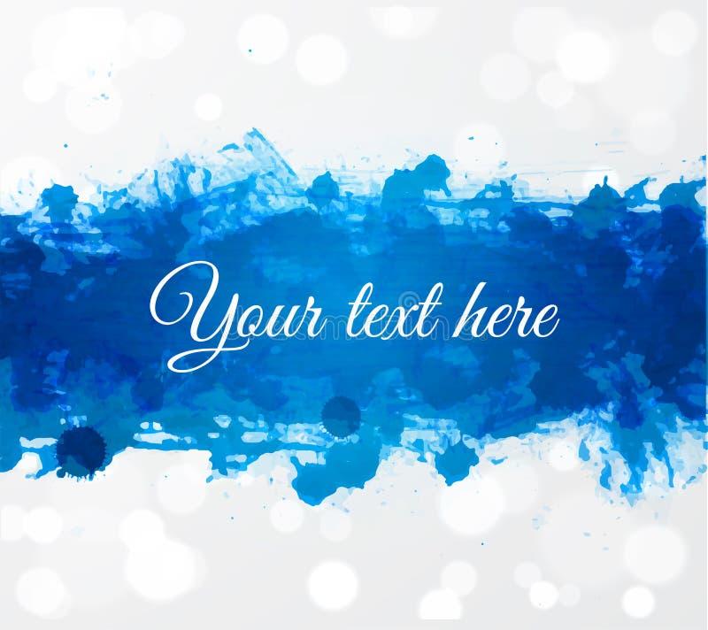 Grande spruzzata blu luminosa di lerciume su fondo d'ardore bianco con il posto per il vostro testo royalty illustrazione gratis