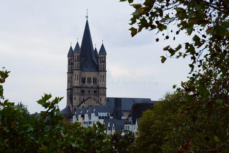 Grande st Martin Church, Colonia fotografia stock libera da diritti