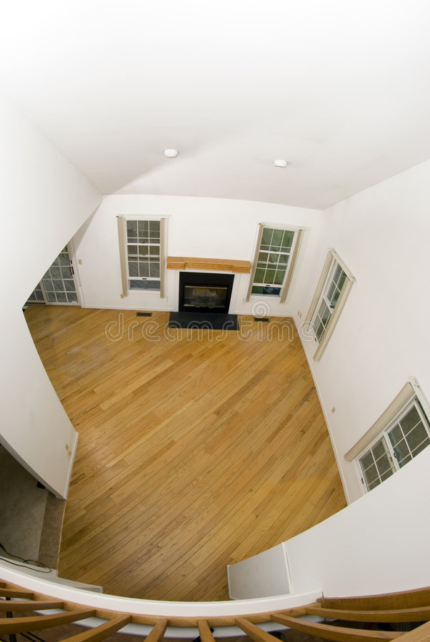 Grande stanza in condominio vuoto fotografia stock libera da diritti