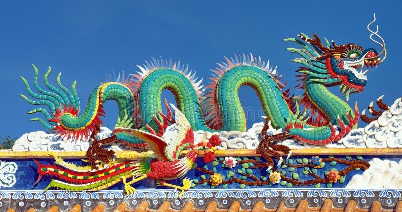 Grande statua del drago fotografie stock libere da diritti