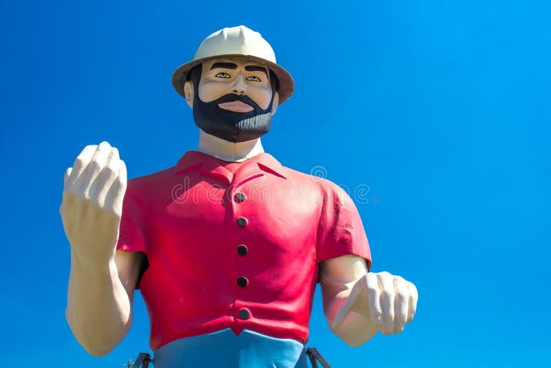 Grande statua dell'uomo con la barba fotografia stock libera da diritti