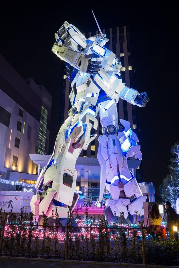 Grande statue de Gundam dans la Chambre, Japon images libres de droits