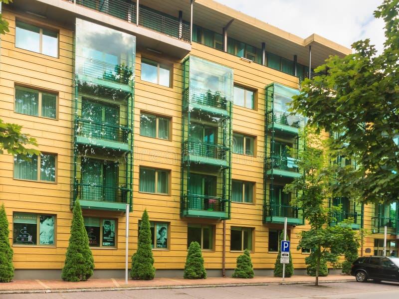 Grande STAZIONE TERMALE Lietuva Druskininkai Druskininkai dell'hotel fotografia stock libera da diritti
