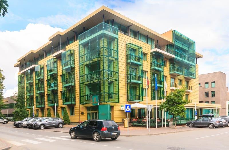 Grande STAZIONE TERMALE Lietuva Druskininkai Druskininkai dell'hotel immagini stock libere da diritti