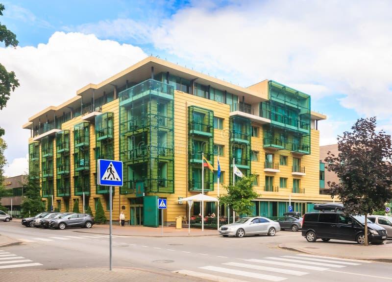 Grande STAZIONE TERMALE Lietuva Druskininkai Druskininkai dell'hotel fotografie stock