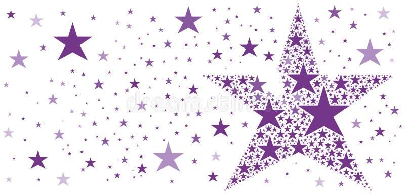 Grande stella fatta di piccole stelle illustrazione vettoriale