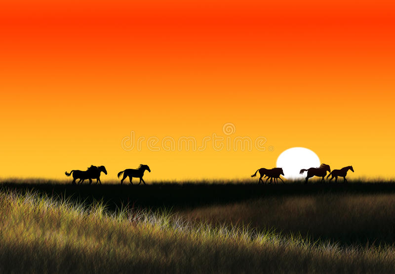 Grande steppe images stock