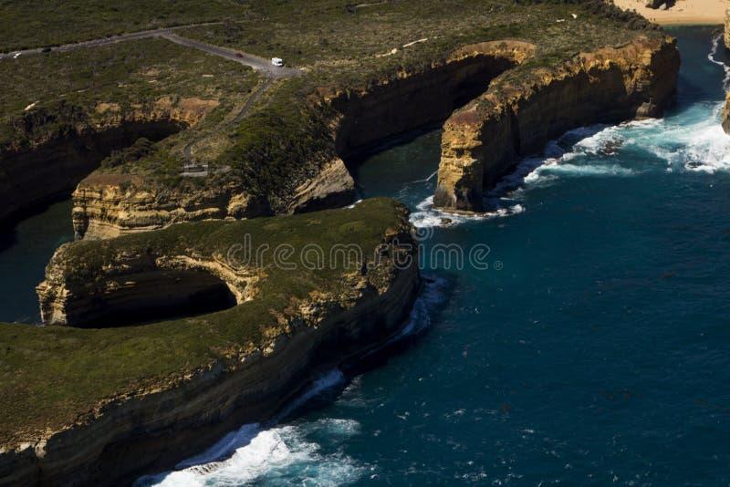 Grande strada Victoria Australia dell'oceano di bella vista aerea piacevole fotografia stock