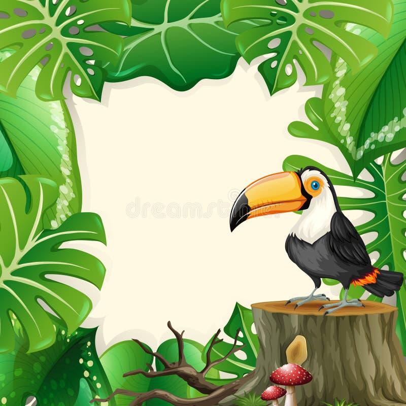 Grande struttura della foresta del tucano royalty illustrazione gratis