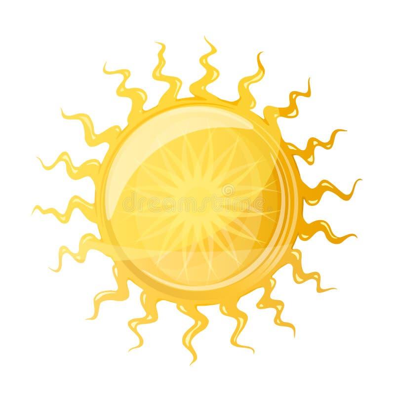 Grande Sun con i raggi ondulati royalty illustrazione gratis