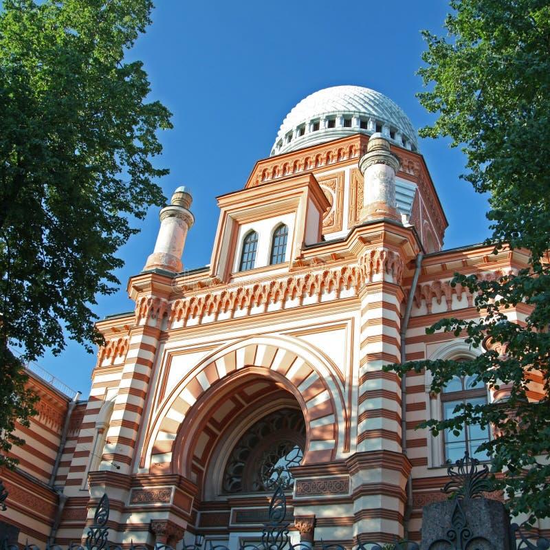 Grande synagogue chorale, St Petersburg, Russie. images libres de droits