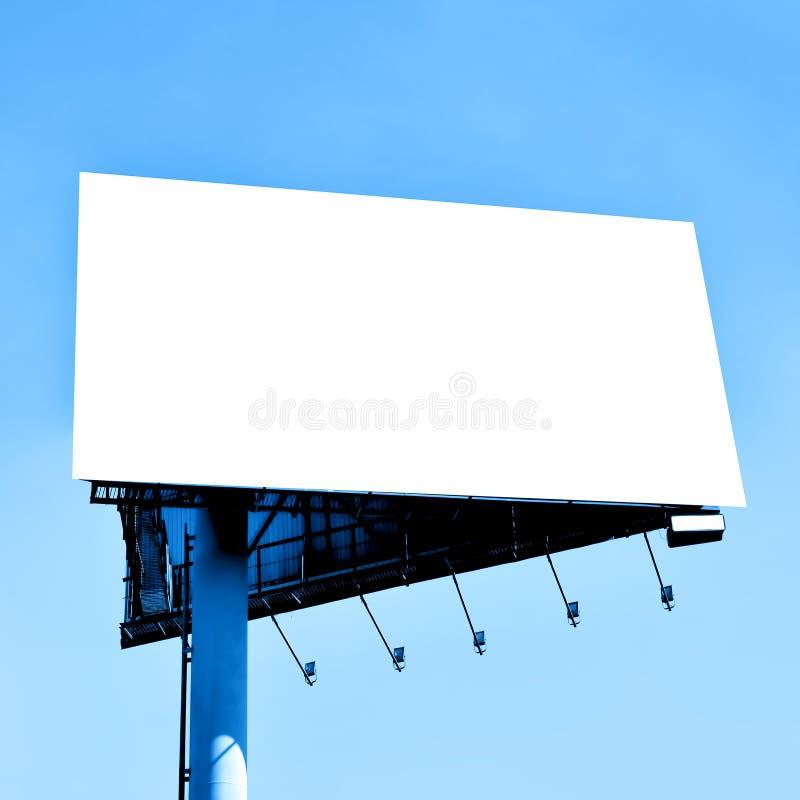 Grande tabellone per le affissioni in bianco fotografia stock