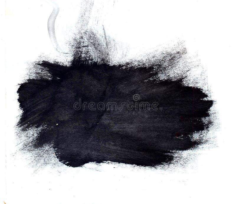 Grande tache à l'encre noire Contexte artistique illustration de vecteur