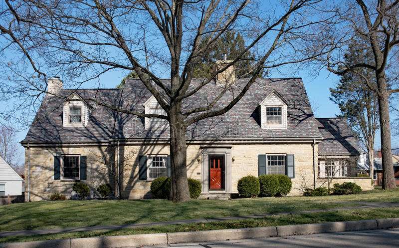 Grande Tan Limestone House imagens de stock