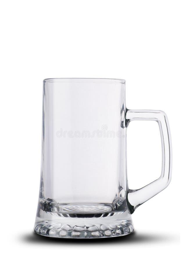 Grande tasse de bière vide photographie stock libre de droits