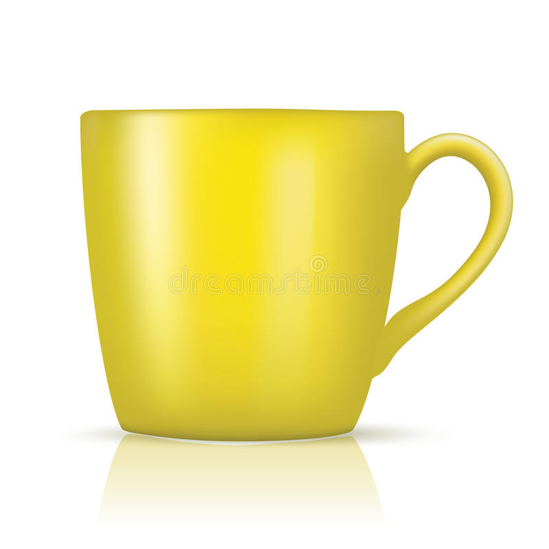 Grande tasse jaune illustration de vecteur