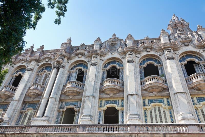 Grande teatro de Havana imagens de stock