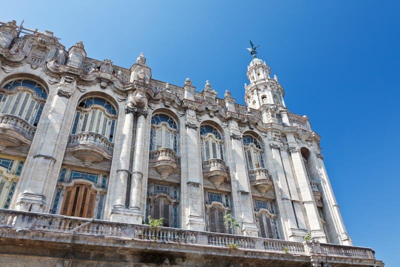 Grande teatro de Havana fotografia de stock